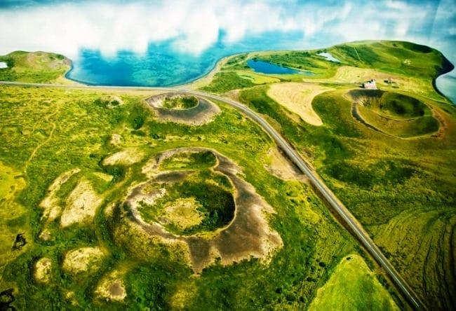 Псевдократеры и исландское озеро Миван 4