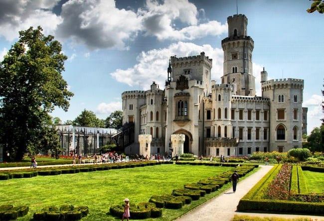 Орлиное гнездо Чехии  замок Глубока-над Влатовой 3