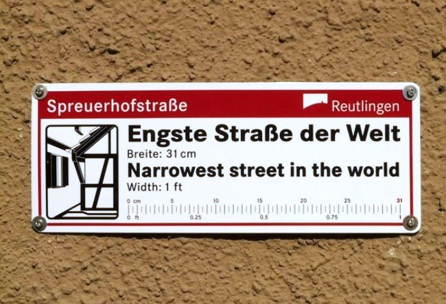 The narrowest street in the world Spreuerhofstraße 32 cm 3