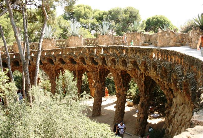 The ancient Barcelona city Park Güell 2