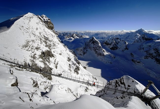 The unique suspension bridge Titlis Cliff Walk in Switzerland 3