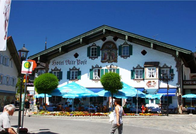 Colorful Oberammergau village 2