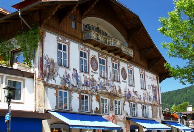 Colorful Oberammergau village 5