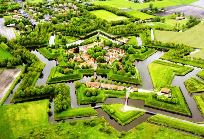 Fortress Bourtange in the form of stars 3