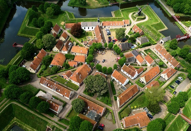 Fortress Bourtange in the form of stars 4