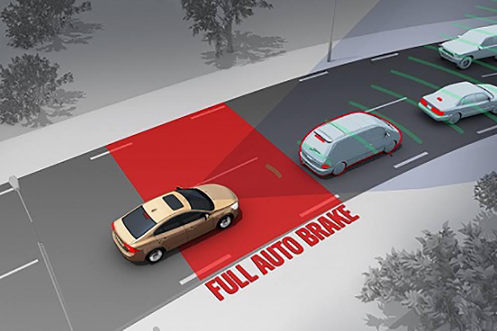Автоматическая технология аварийного торможения, включенная в новые транспортные средства