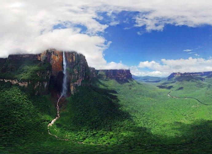 Самый большой водопад в мире Анхель 3