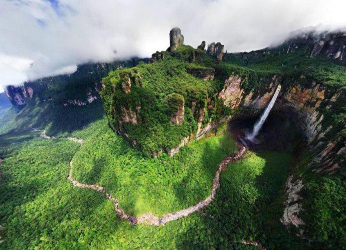 Самый большой водопад в мире Анхель 5