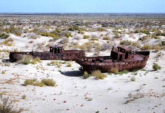 Исчезающее Аральское море 4