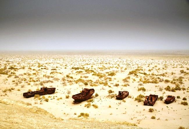 Исчезающее Аральское море 5