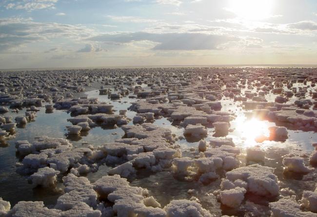 Самое соленое озеро в России 3