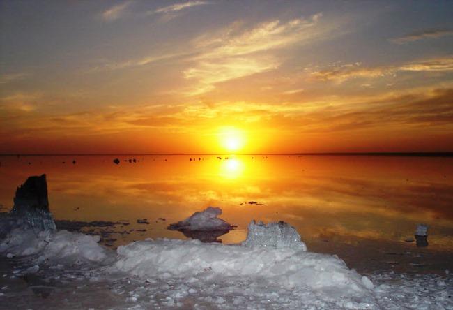 Самое соленое озеро в России 4