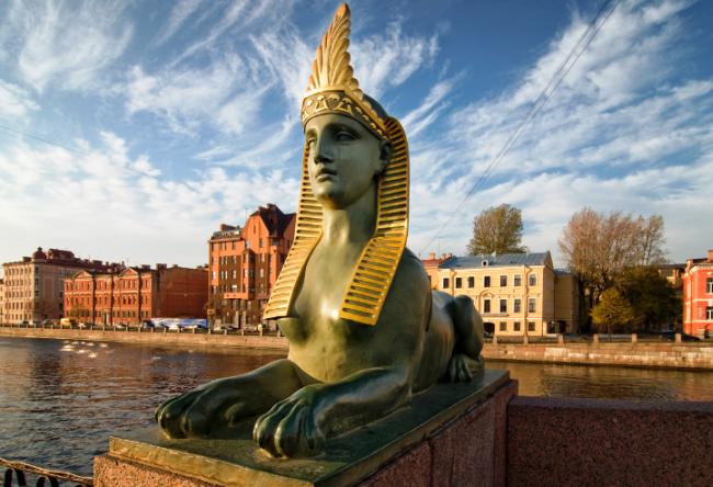 Египетские сфинксы в  Петербурге и белые ночи 2