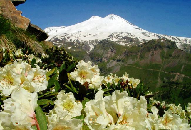 Самая высокая вершина Европы  слоистый вулкан Эльбрус 4