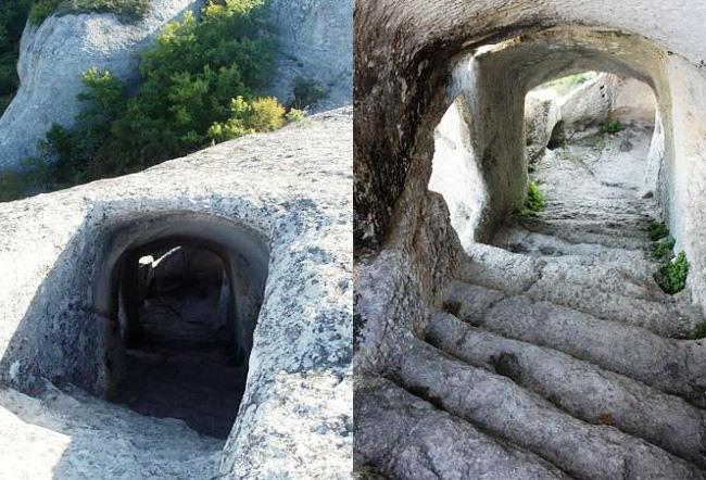Crimea Bakhchisarai the cave town Eski Kermen 2
