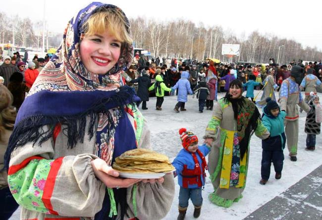 Maslenitsa a week before Lent cheese 2