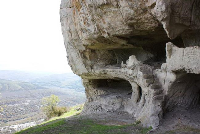 The fortress at the top the mysterious city of Tepe Kermen 3