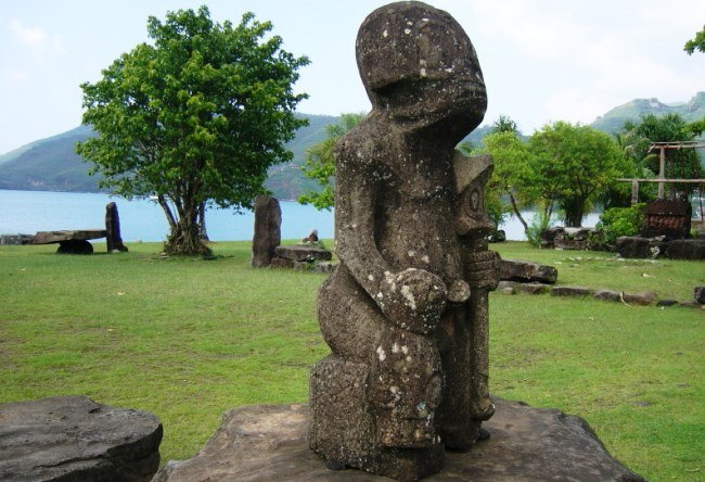 Sculptures of the Nuku Hiva island 4