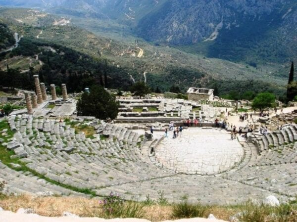 Delphi town – the hub of the universe