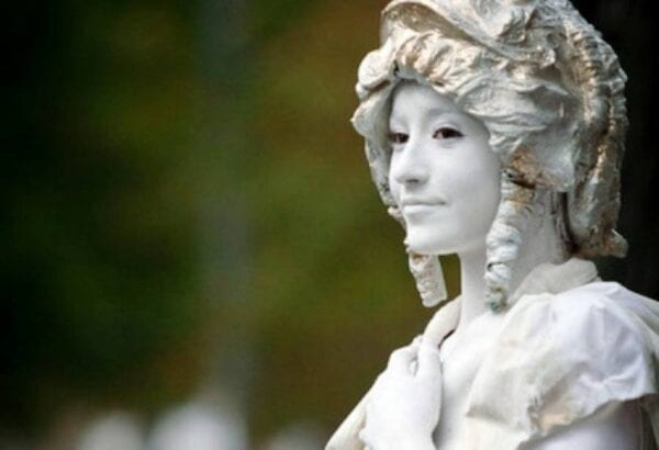 Living statues in Barcelona
