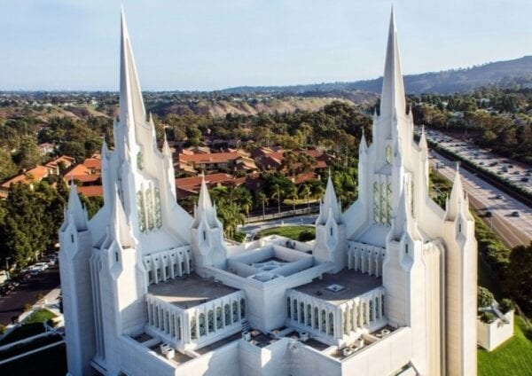 Temple of Mormon San Diego and other American sights
