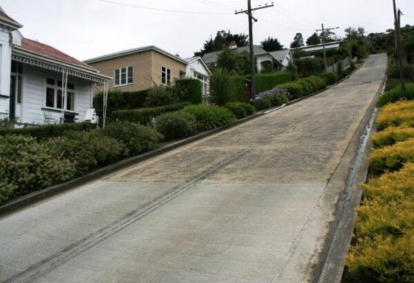 The steepest street in the world in the city of Dunedin