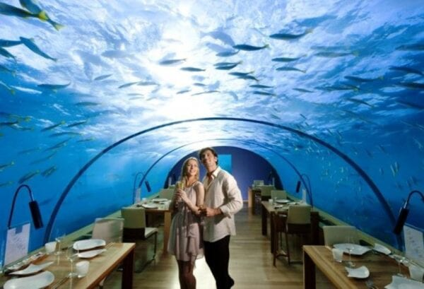 The underwater restaurant Ithaa