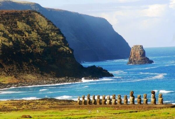 Stone giants of Easter Island