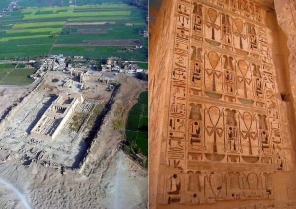 Monuments of Africa: the temple Medinet-Abu in Luxor