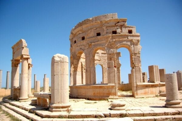 Древний античный город Лептис-Магна
