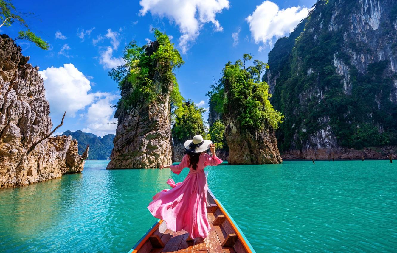 tailand-more-zaliv-skaly-priroda-peizazh-lodka-devushka