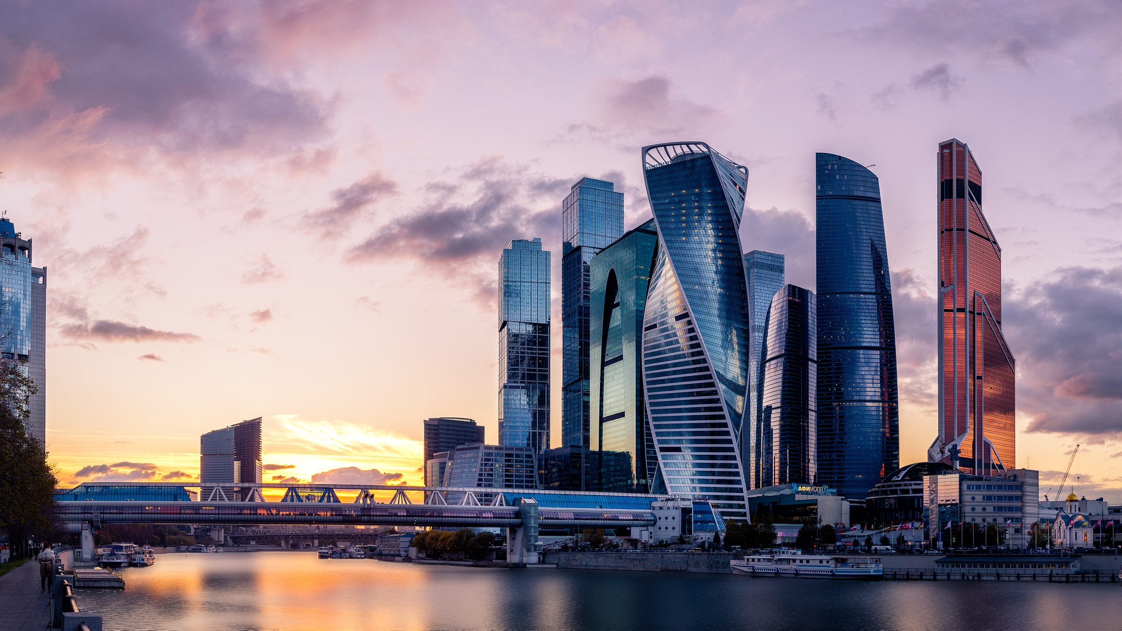 Moscow International Business Centre skyscrapers